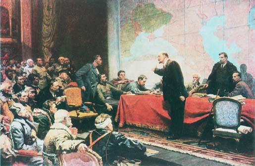 Lenin Speaks on GOELRO Plan.  (Painting by L. Shmatko)